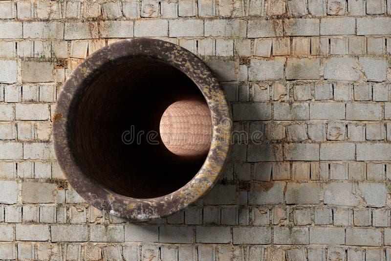 3D Tunnel stock illustratie