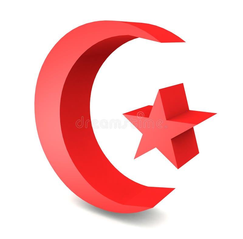 Download 3D turkish flag moon star stock illustration. Illustration of element - 41385149