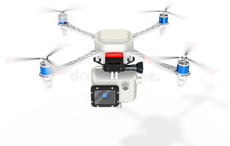 3d UAV drone with a camera vector illustration