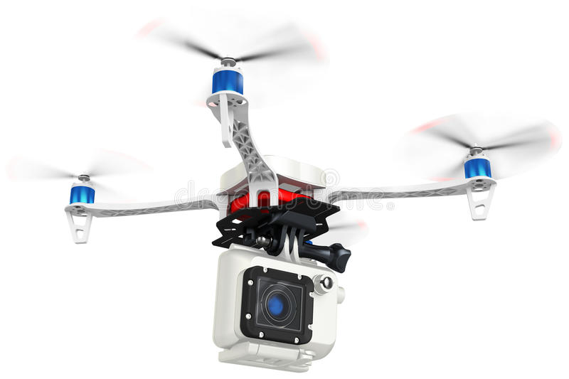 3d UAV drone with a camera royalty free illustration