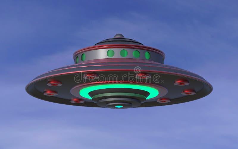 3D UFO Extraterrestrial Spaceship. Invasion Concept. vector illustration