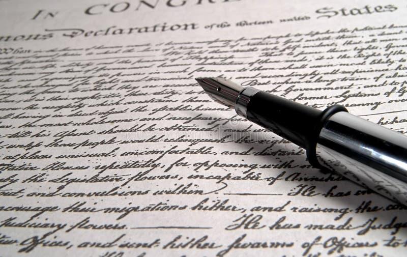 Długopis Kaligrafii Zdjęcie Royalty Free