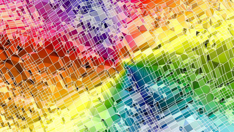 3d ukazują się jako 3d niski poli- abstrakcjonistyczny geometryczny tło z nowożytnymi gradientowymi kolorami 5 royalty ilustracja