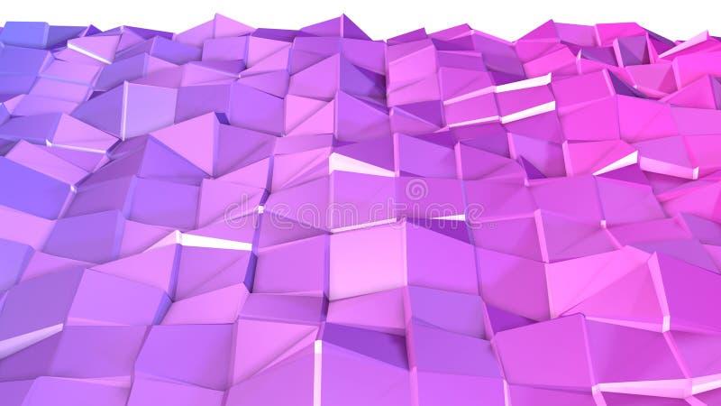 3d ukazują się jako 3d niski poli- abstrakcjonistyczny geometryczny tło z nowożytnymi gradientowymi kolorami, czerwony błękitny f ilustracji