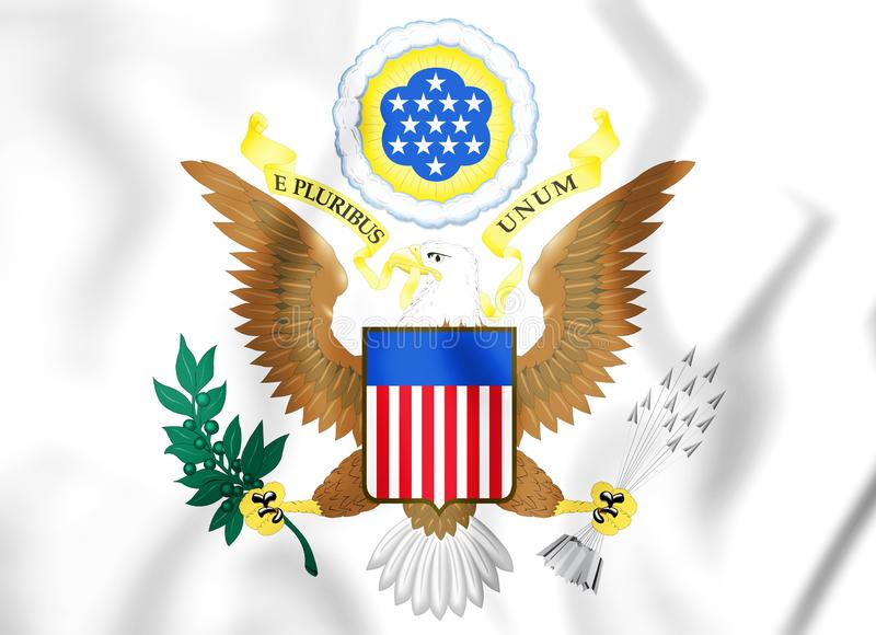 3D United States Coat of Arms. royalty free illustration