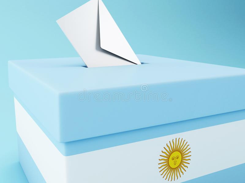 3d urna de voto, elei??es 2019 de Argentina ilustração do vetor