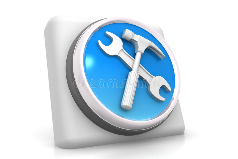 3d usine l'icône illustration libre de droits
