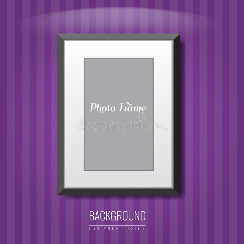 3d vacian el marco de la foto en la pared Fondo de la publicidad del vector para su disposición del anuncio ilustración del vector
