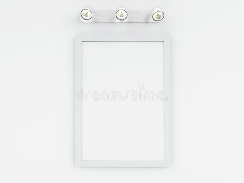 3d vacian la plantilla del marco con el lugar para su texto y diseñan stock de ilustración