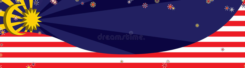 3d van de het elementenkromme van Maleisië banner van Dec stock illustratie