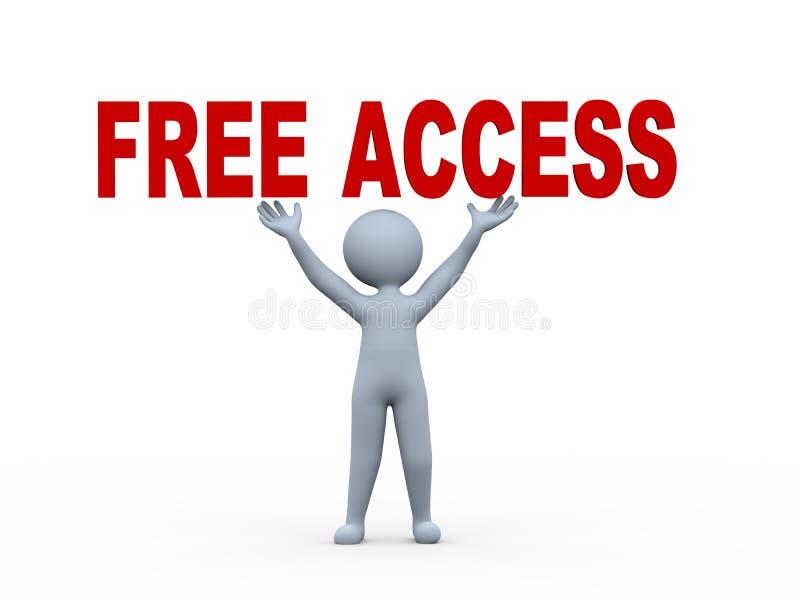 3d van het de tekstwoord van de mensenholding vrije toegang royalty-vrije illustratie