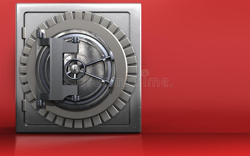 3d vault door safe royalty free illustration