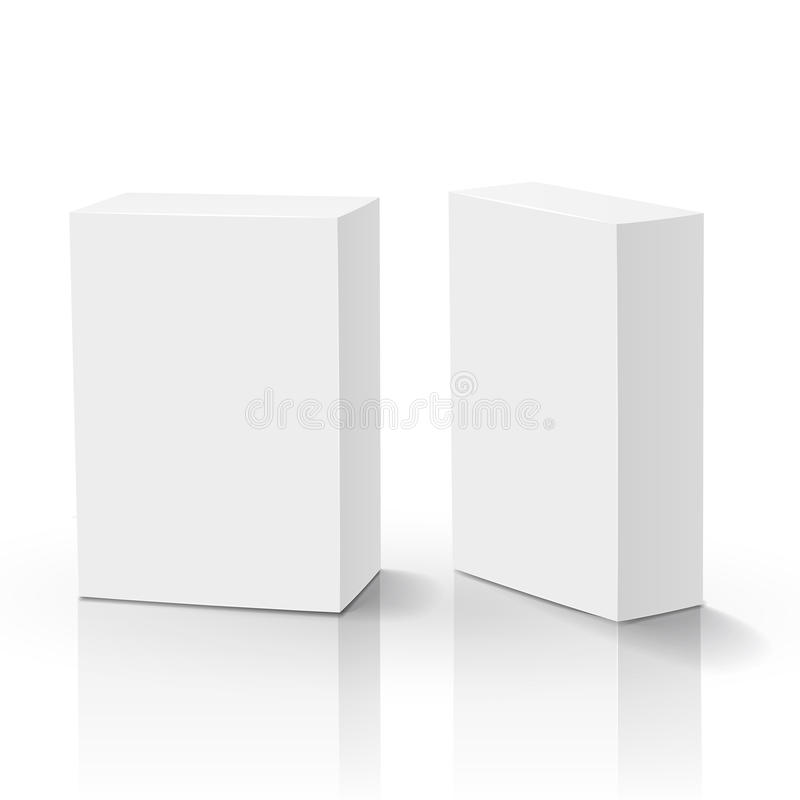 3d vector blank box vector illustration