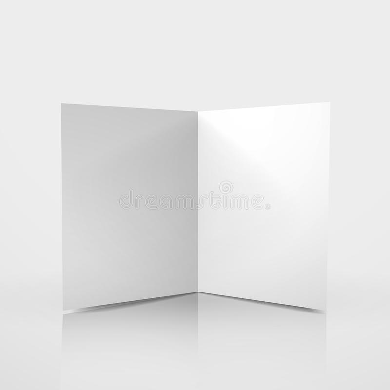 D Vector Blank Card Template Stock Vector  Illustration Of Blank