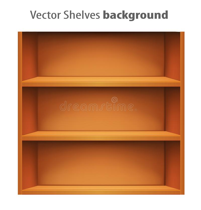 3d vector book shelve template. Vector illustration stock illustration