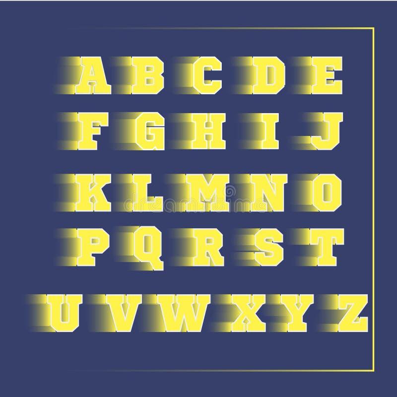 3D vector geel van de alfabetsport stock foto