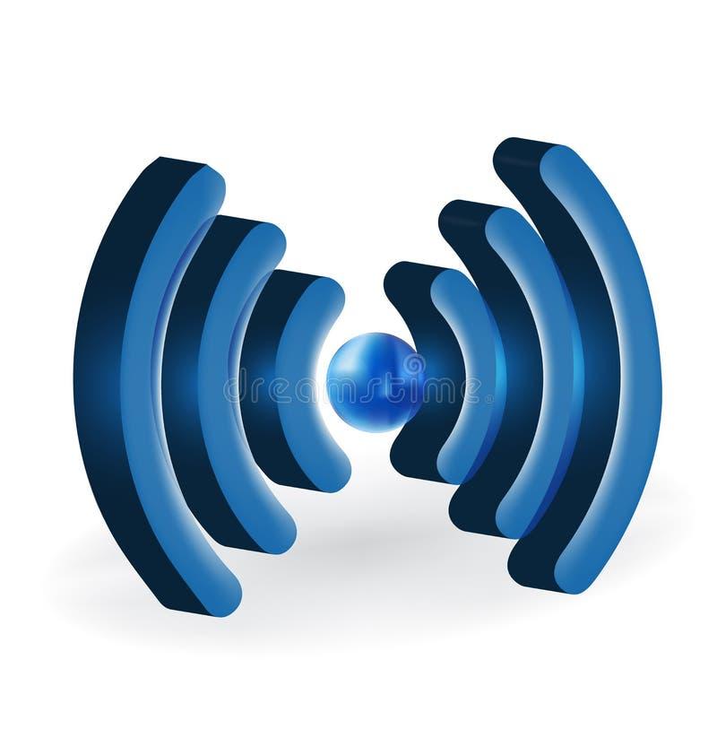 3D vector het beeldembleem van WiFi vector illustratie