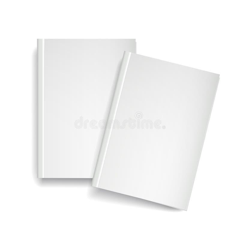 3d vector leeg tijdschriftmalplaatje op witte achtergrond stock illustratie