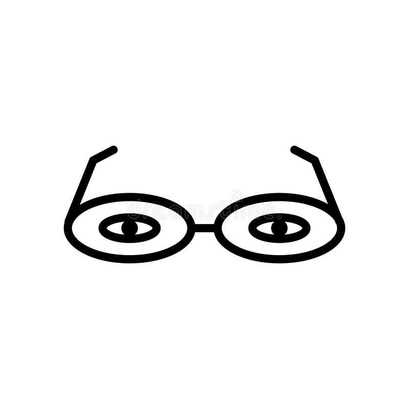 3d vector van het glazenpictogram op witte achtergrond, 3d glazenteken, lijn en overzichtselementen in lineaire stijl wordt geïso royalty-vrije illustratie