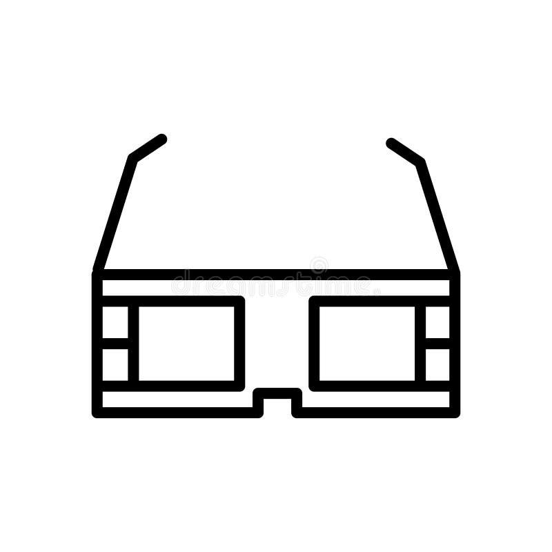 3d vector van het glazenpictogram op witte achtergrond, 3d glazenteken, lijn en overzichtselementen in lineaire stijl wordt geïso vector illustratie
