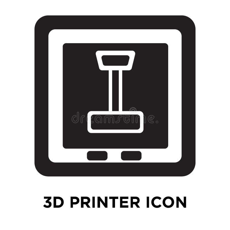 3d vector van het printerpictogram op witte achtergrond, embleem wordt geïsoleerd dat concep royalty-vrije illustratie