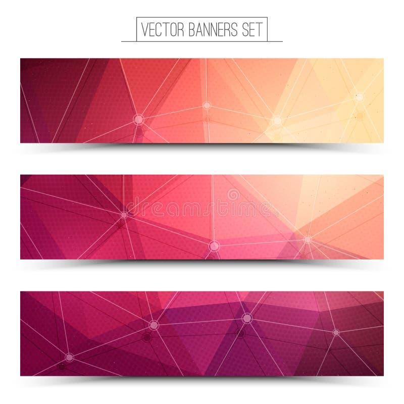 3d vectorbanners van het technologieweb stock illustratie