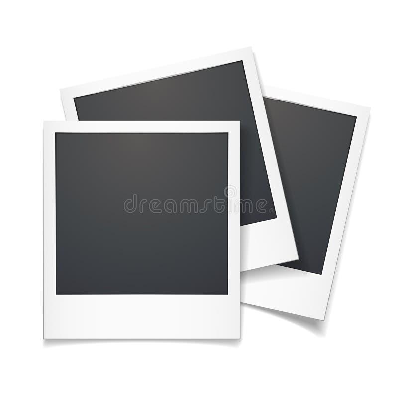 3d vectorkader van de polaroidfoto royalty-vrije illustratie