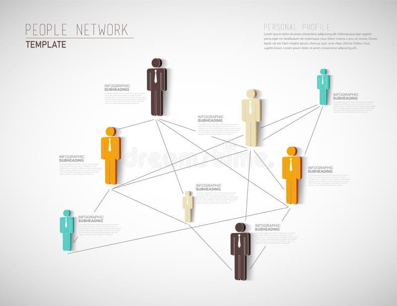 3D vectormalplaatje van het organisatie persoonlijke netwerk royalty-vrije illustratie