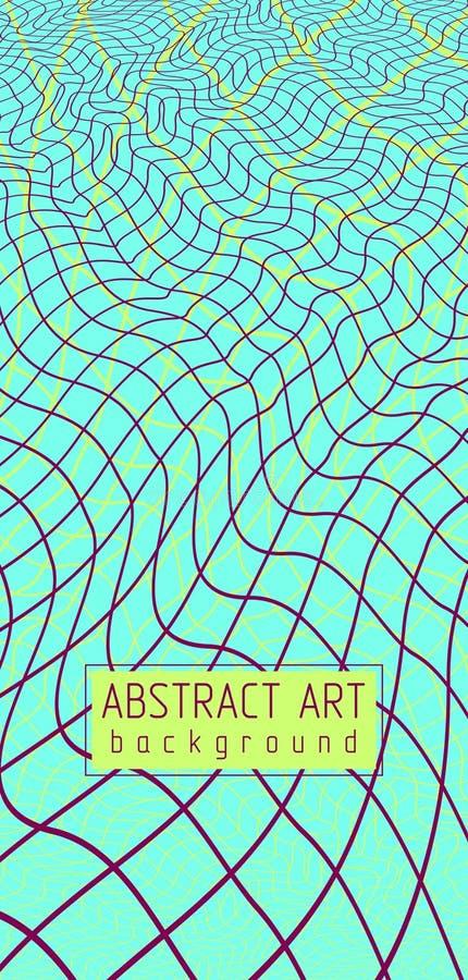 3d vectornetwerk abstracte achtergrond, artistieke in moderne illustratie van rooster stock illustratie