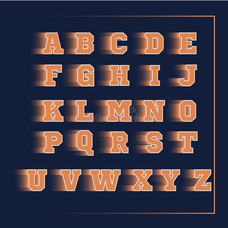 3D vectorsinaasappel van de alfabetsport royalty-vrije stock afbeeldingen
