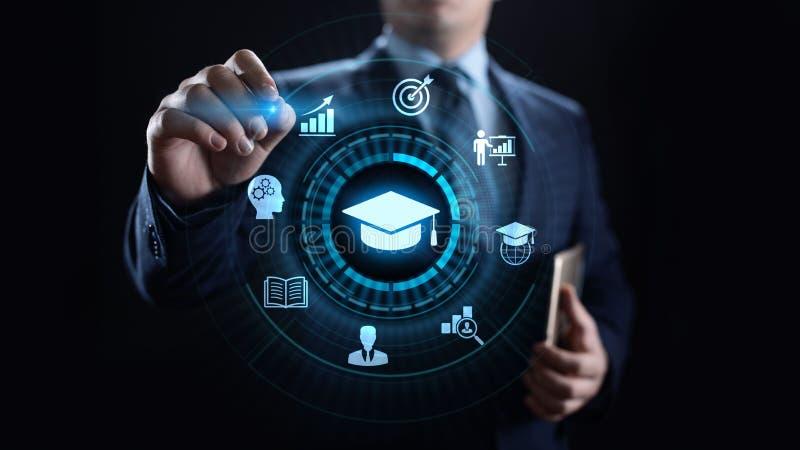 D?veloppement personnel d'affaires de la connaissance de s?minaire de Webinar de formation en ligne d'apprentissage en ligne de t images stock