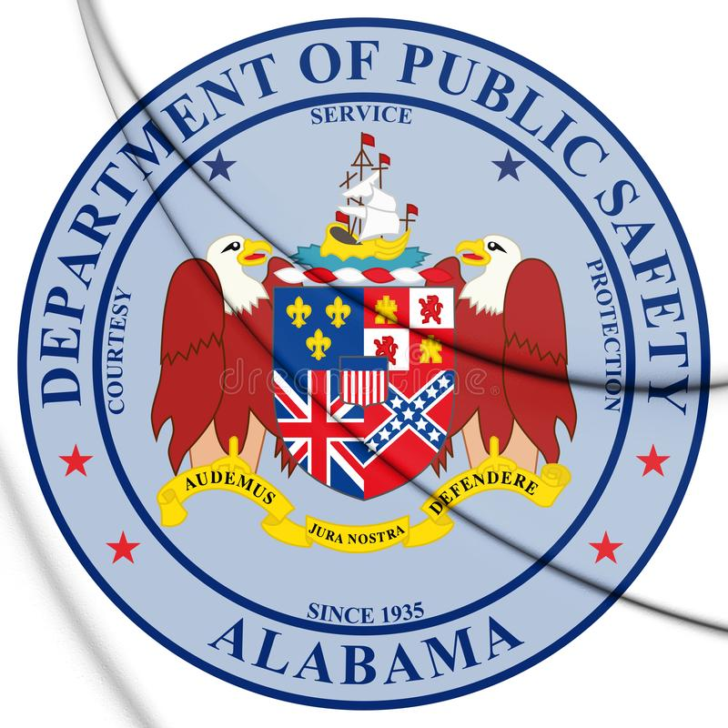 3D Verbinding van het Ministerie van Alabama van Openbare Veiligheid, de V.S. stock illustratie