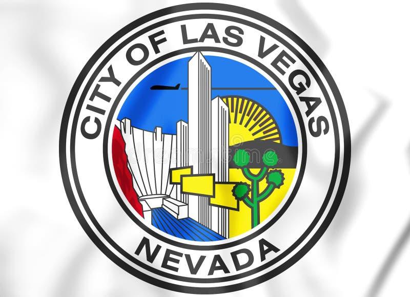 3D Verbinding van Las Vegas Nevada, de V.S. stock illustratie