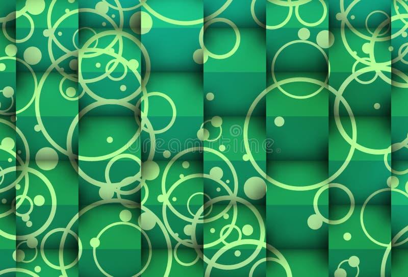 3d verdâtre contre le 2d illustration stock