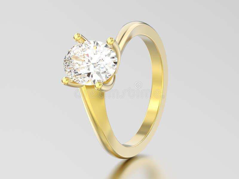 3D verdraaide ring van de illustratie gele gouden overeenkomst illusie royalty-vrije illustratie