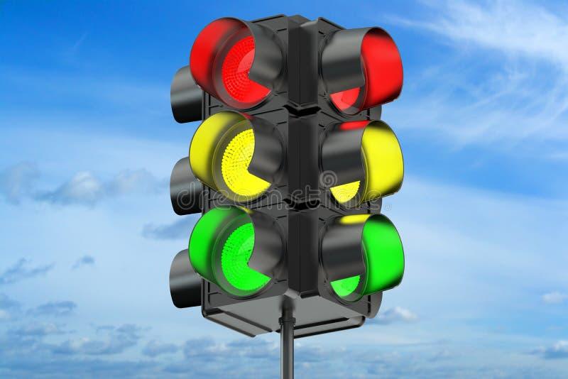 3d verkeerslicht vector illustratie