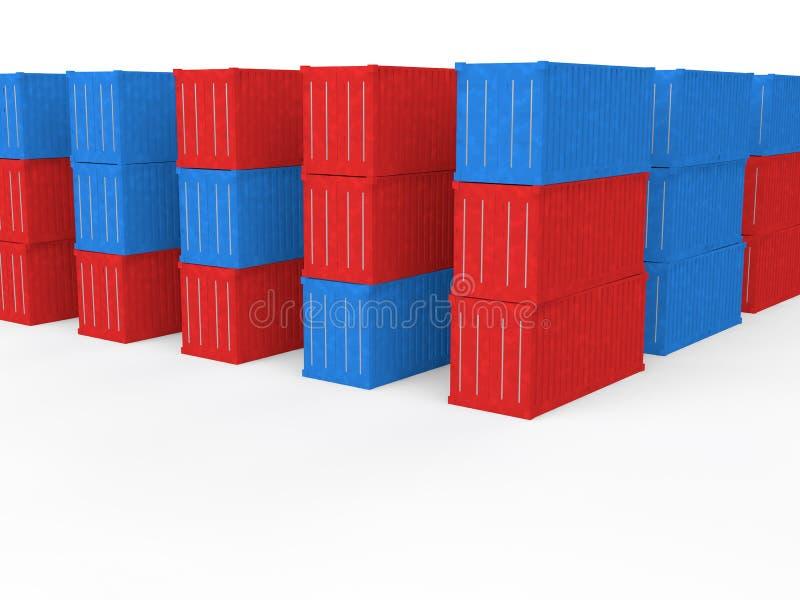 3d verschepende containers vector illustratie