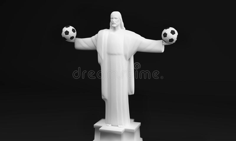 3D version of Christ the Redeemer royalty free stock photography