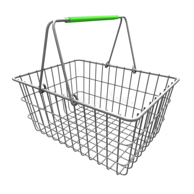 3D vident le panier à provisions illustration de vecteur