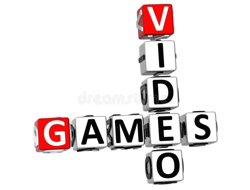 3D Video Games Crossword royalty free illustration