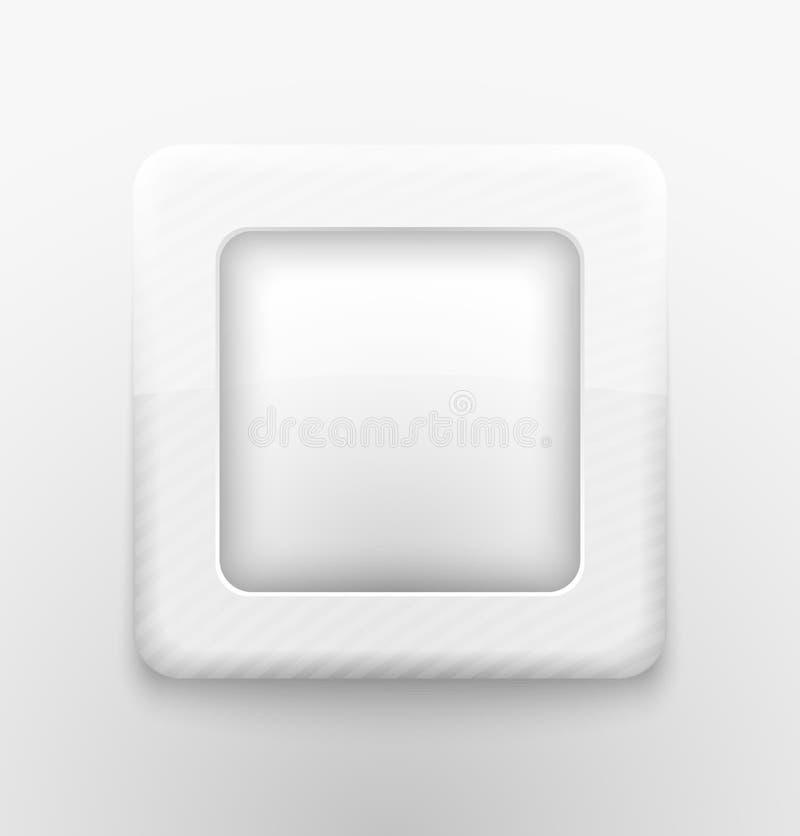 Regel witte knoop vector illustratie