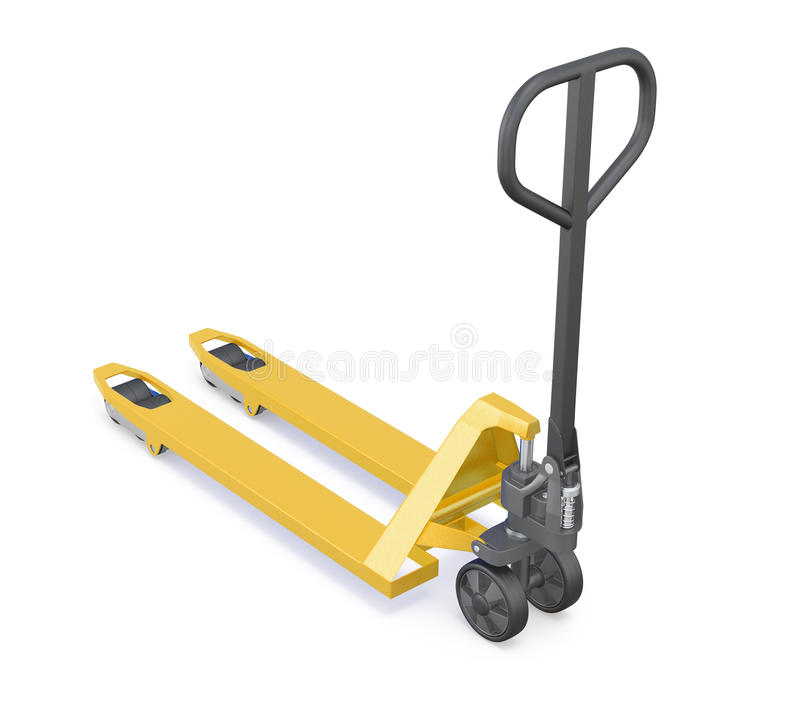 3d view manual forklift truck royalty free illustration