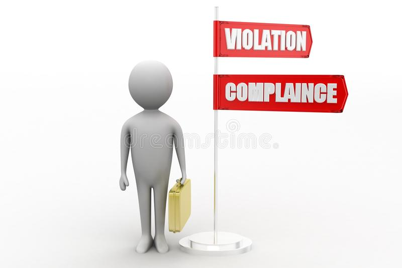 Download 3d Violation And Compliance Stock Illustration - Image: 40835028