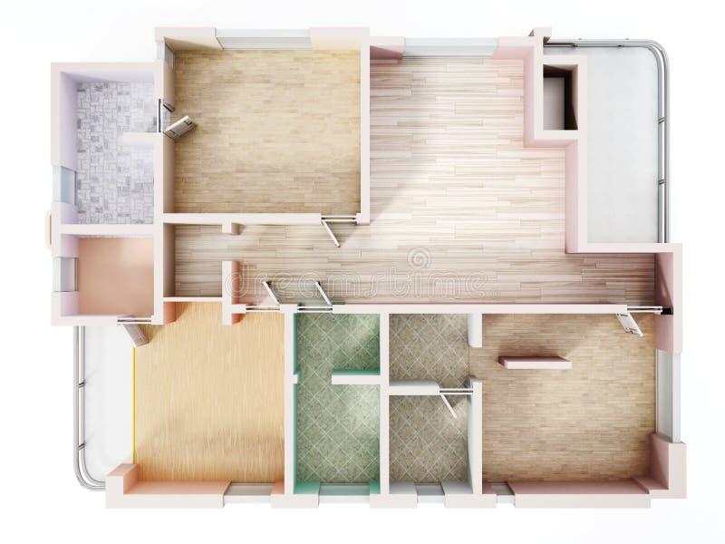 3D visualisation of a luxurious flat. 3D illustration vector illustration
