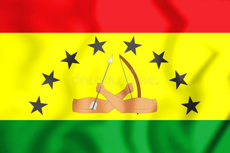 3D Vlag van het District van Guna Yala stock illustratie