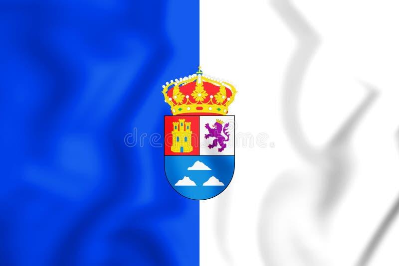 3D Vlag van Las Palmasprovincie, Spanje royalty-vrije illustratie