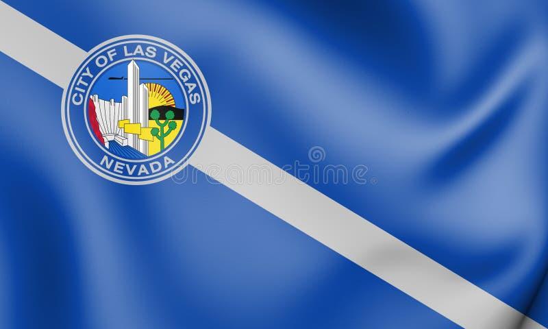 3D Vlag van Las Vegas Nevada, de V.S. vector illustratie