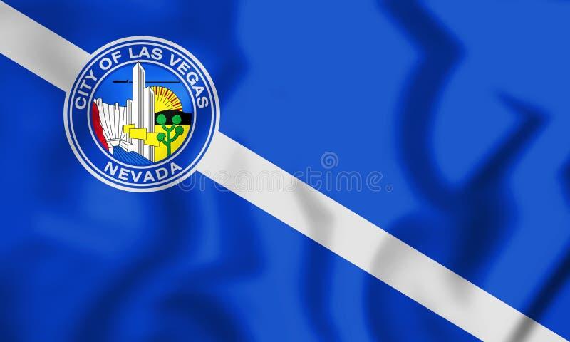 3D Vlag van Las Vegas Nevada, de V.S. stock illustratie
