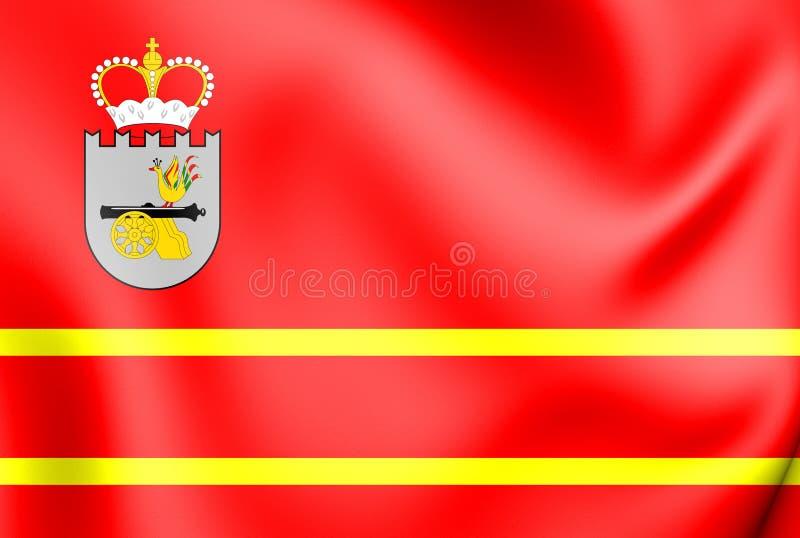 3D Vlag van Smolensk Oblast, Rusland vector illustratie