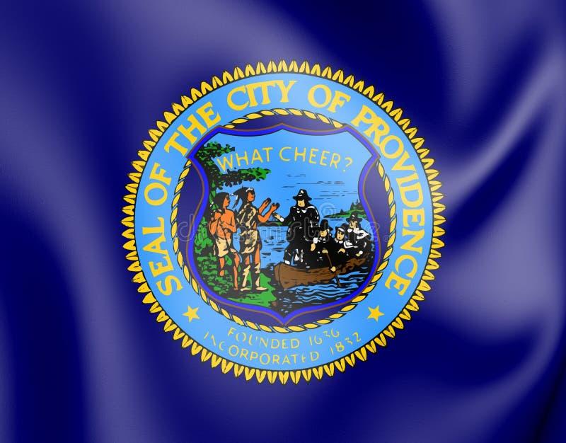 3D Vlag van Voorzienigheid Rhode Island, de V.S. stock illustratie